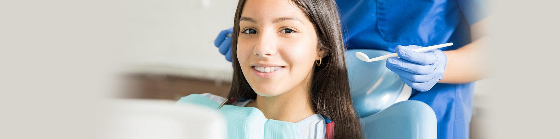 Girl with Dental Sealants treatment at Anchorage Dental Arts